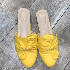Yellow Mule Fashion Flats